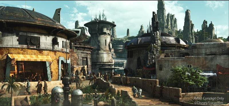 """🌘Disney ha revelado un nuevo 'Concept Art' de """"Star Wars Galaxy's Edge"""" y un nuevo nombre para la Aldea: Black Spire Outpost."""